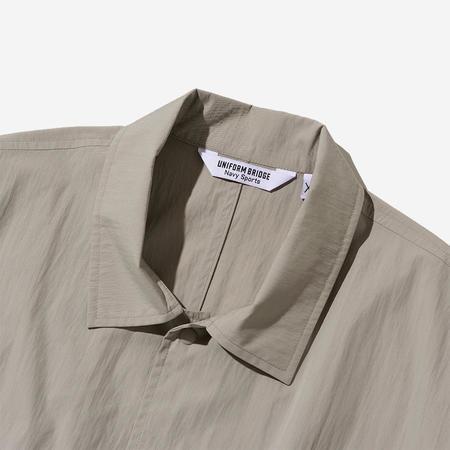 Uniform Bridge Pullover Pocket S/S Shirt - Beige Grey