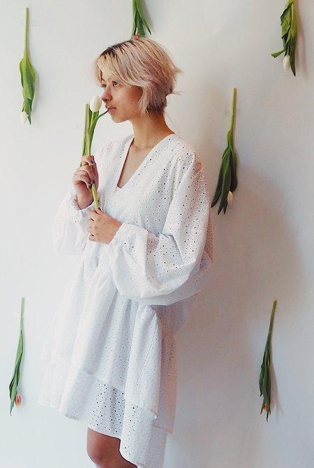 m e ç l â Posey Dress - White Eyelet