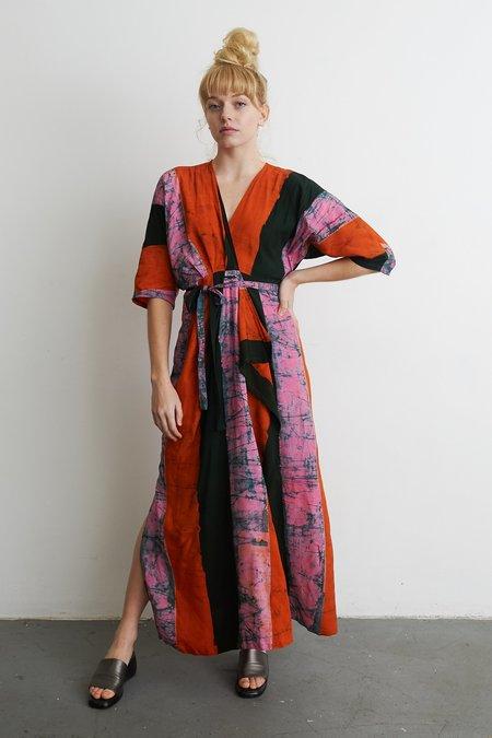 Osei-Duro Letsa Wrap Dress - Carmine