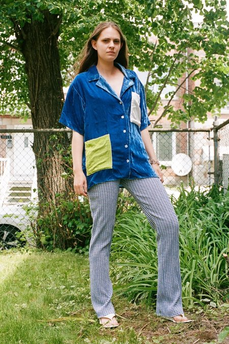 100% Silk Easy Shirt - Azure