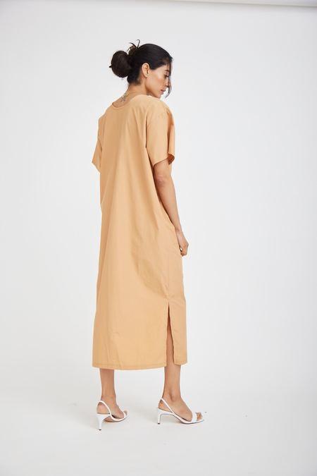 OAD Gather Dress - Latte Brown