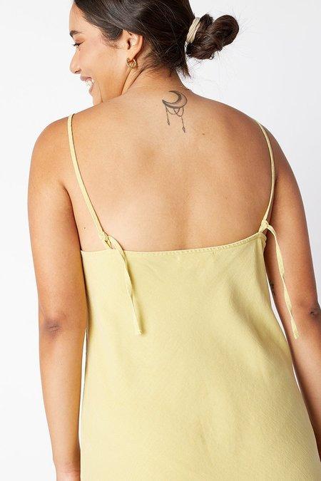 back beat rags Aries Tencel Dress - Lime