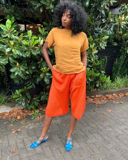 Vintage Pleats Please Pants - Tangerine