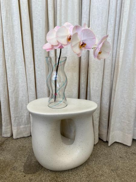 Vintage Wavy Glass Vase