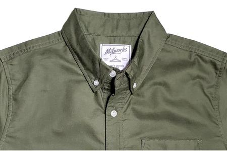 Milworks Cotton Oxford Shirts - Army
