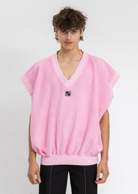 we11done Metal Logo Oversize Vest - Neon Pink