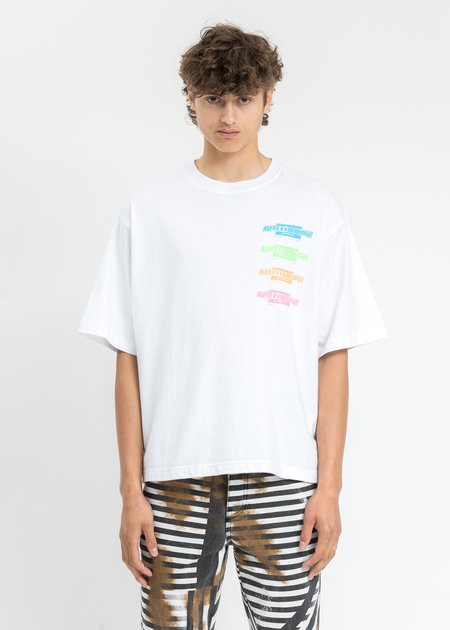 We11done Multi Color Logo T-Shirt - White