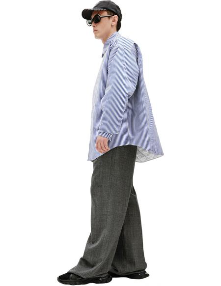 Balenciaga Blue Striped Shirt