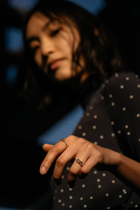 Jennie Kwon Designs Green Sapphire Cluster Fan Ring