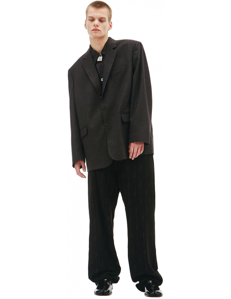 Balenciaga Grey Wool Jacket