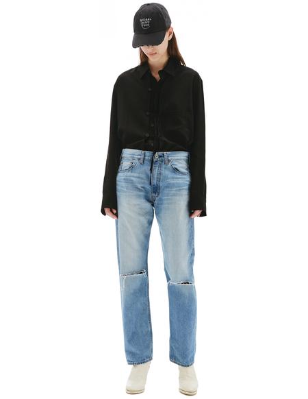 Junya Watanabe Straight Distressed Jeans