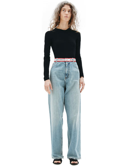 Balenciaga Cottons Pants - Blue