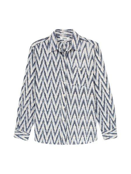 Freemans Sporting Club Point Collar Shirt - Blue Ikat