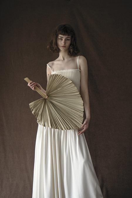 K M by L A N G E NOBODY WIFE LONG DRESS - CREAM