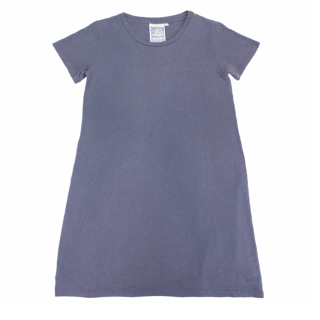 Jungmaven Hemp+Cotton Tee Dress - Diesel Grey
