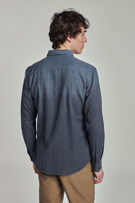 Delikatessen Feel Good Double Brushed Italian Cotton Flannel Shirt - BLUE