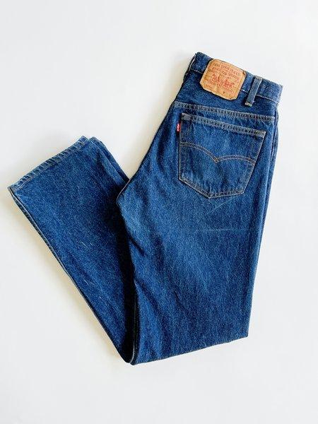 Vintage Levi's 501 Dark Wash Denim - blue