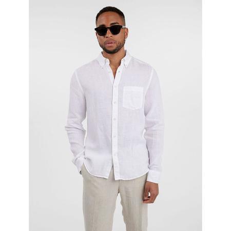 J Lindeberg Linen Melange Shirt - White