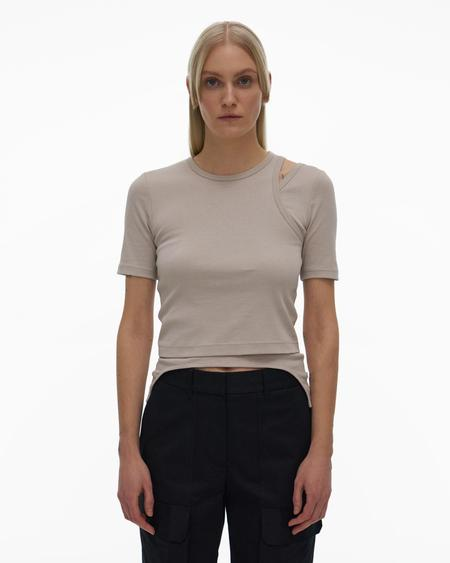 Helmut Lang Double Rib Tee Set - Cement