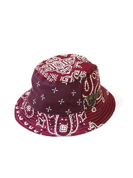 Kapital Short Brim Bandana Patchwork Bucket Hat - Enji