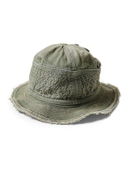Kapital Chino The Old Man And The Sea Soft Crush RemakE Hat - Khaki