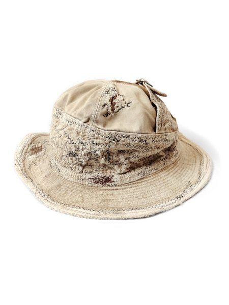 Kapital KOUNTRY REMAKE Chino The Old Man and the Sea Crash Remake HAT - Beige