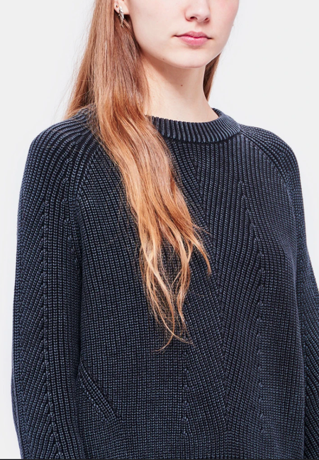 Demy Lee Chelsea Cotton Sweater - Washed Black