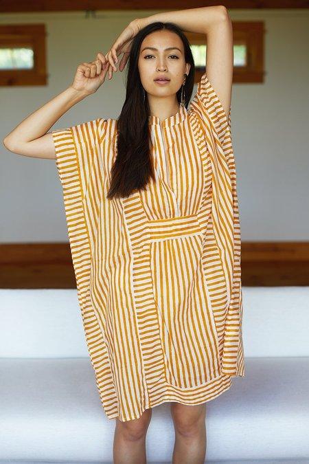Emerson Fry Short Caftan - Marigold Stripe