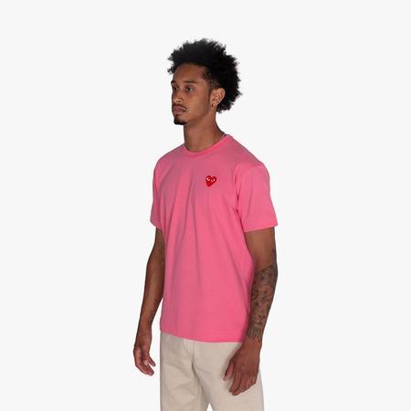 Comme des Garçons PLAY Red Heart Tshirt - Pink