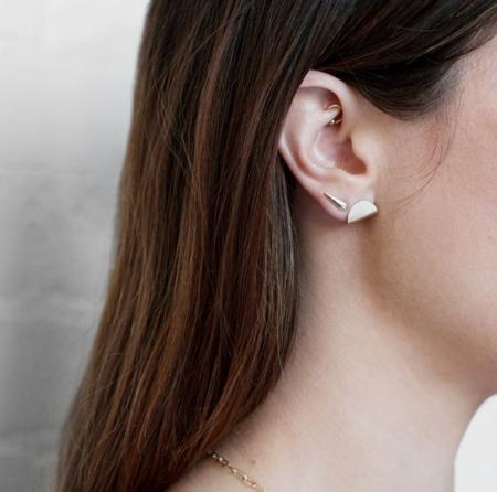 Carrie Hoffman Taco Stud Earrings - Gold