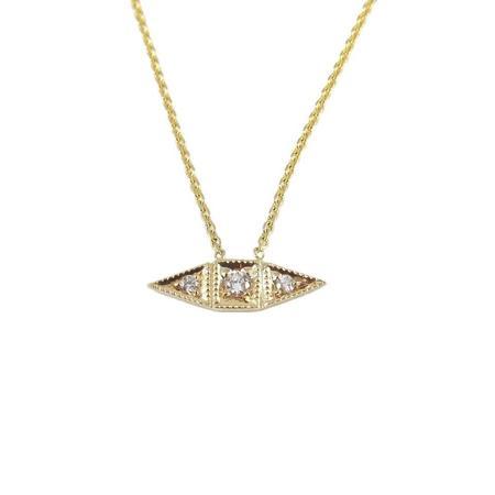 Jennie Kwon Deco Point Diamond Necklace - 14K yellow gold