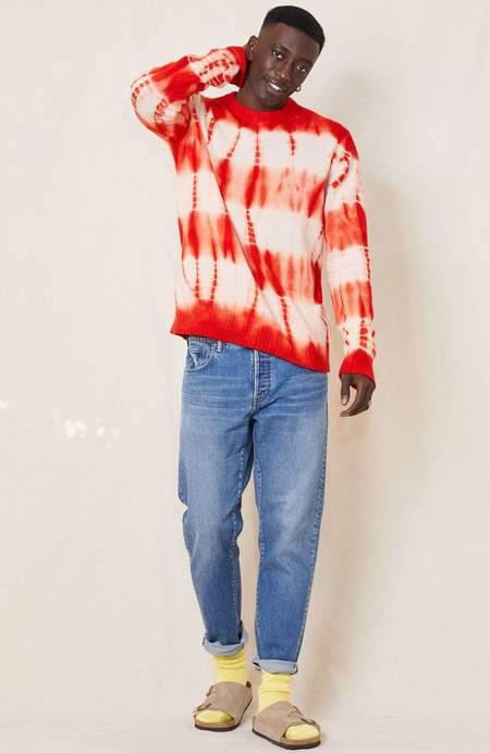 unisex RHLA  Oversized Tie-Dye Crew Neck Sweater