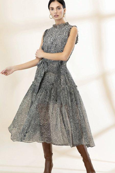 Christy Lynn Silk Chiffon Gemma Dress - Leopard
