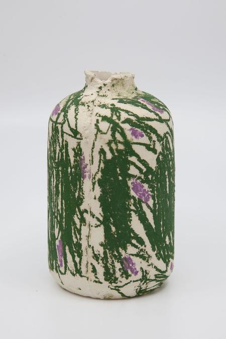 Daren Wilson Dry Bud Vase 6 - Green/Creem