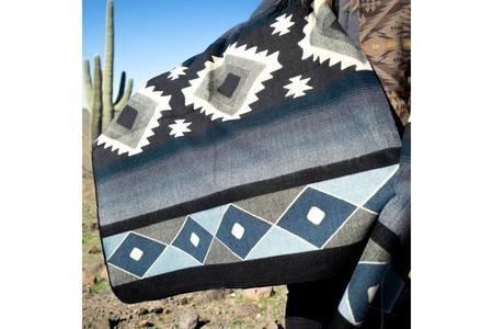 Andean Alpaca Wool Blanket - Midnight