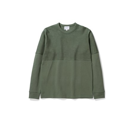 Norse Projects Halfdan LS Terry - Moss Green