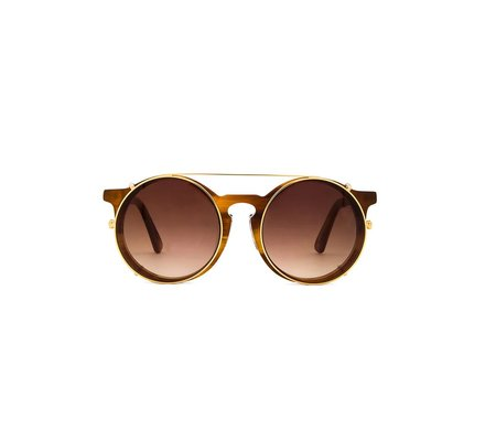 Unisex SUNDAY, SOMEWHERE Matahari Sunglasses - Mid Choc Tortoise