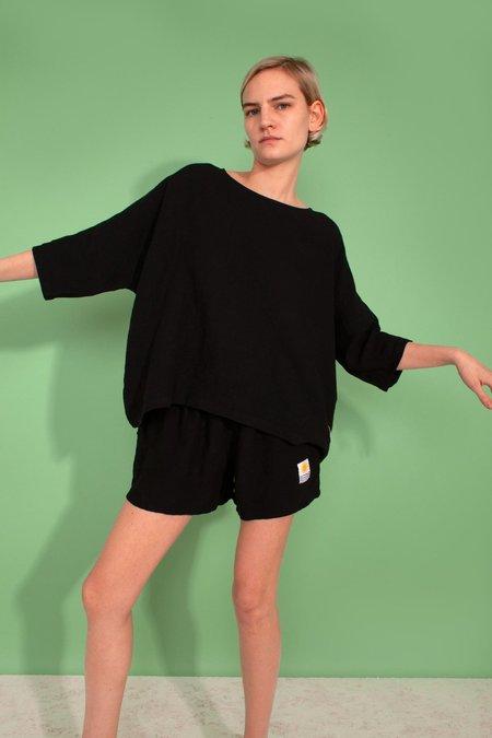 L.F.Markey Basic Linen Shorts - Black