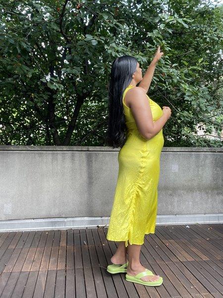 SVNR Naturally Dyed Yoo Maxi Slip - Yellow