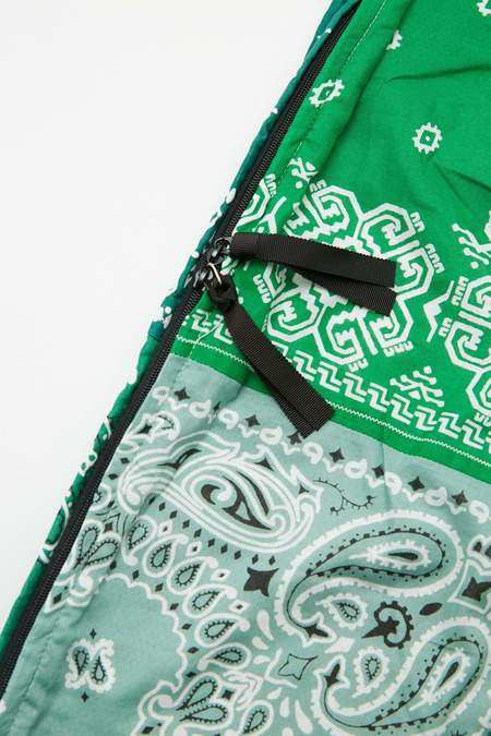 Kapital Gauze Bandana Beach Snufkin Bag - Green