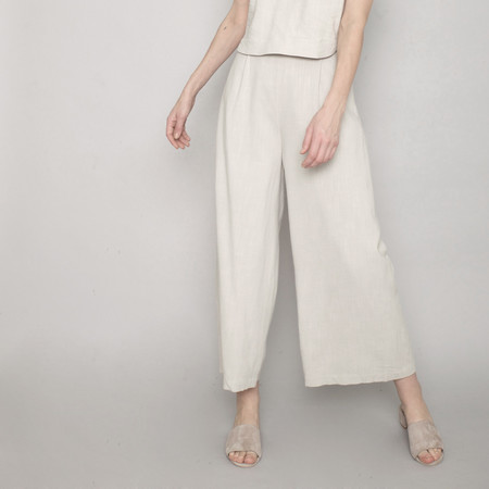7115 by Szeki Spring Wide-Legged Trouser - Sand - SS17