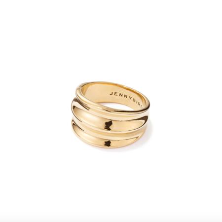 Jenny Bird Double Dune Contour Ring - Gold