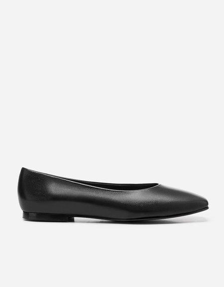 Flattered Nikki Leather Slip On - Black