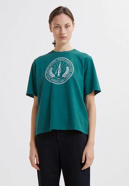 Wood Wood Alma Seal T-Shirt - Dark Emerald