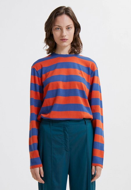 Wood Wood Astrid Stripe Long Sleeve - Azure Blue