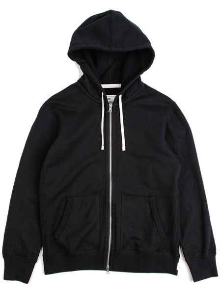 Reigning Champ Midweight Full-Zip Hoodie Black