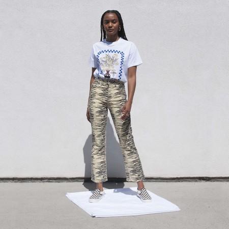 Ganni High Waisted Bootcut Jeans - Pale Banana