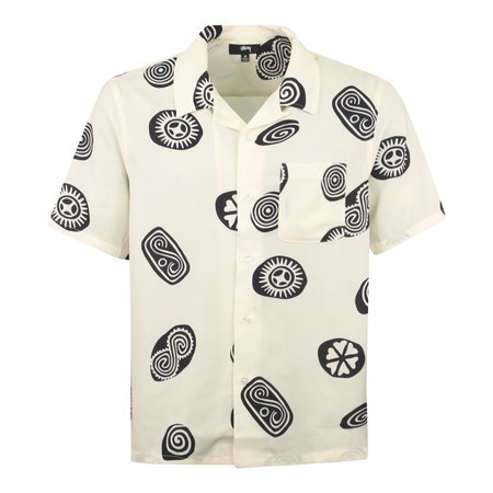 Stussy Icon Pattern Shirt - Off White