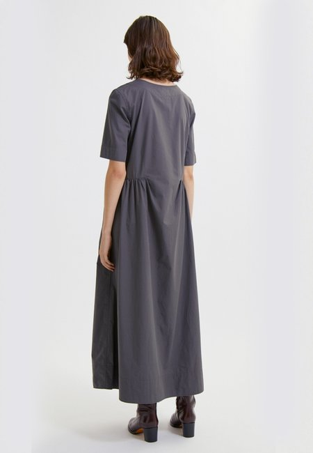 Wood Wood Nova Poplin Dress - Slate Grey