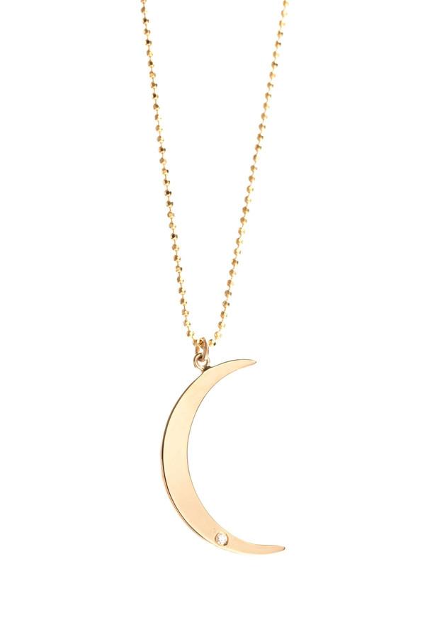 Ariel Gordon Crescent Moon Pendant Necklace
